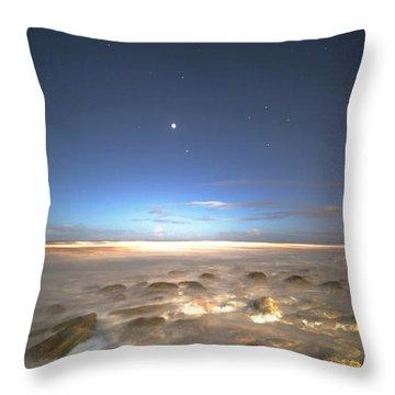 The Ocean Desert Throw Pillow