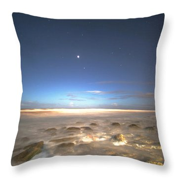 The Ocean Desert Throw Pillow