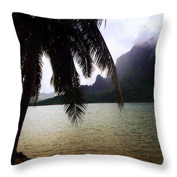 The Ocean In Moorea Throw Pillow