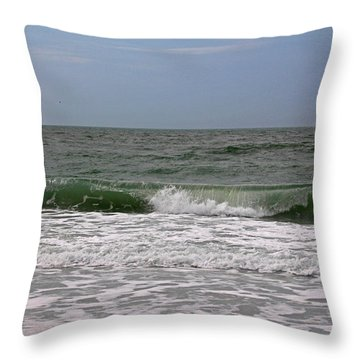 The Ocean In Motion Throw Pillow