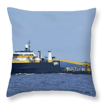The Ocean Intervention At Sea Throw Pillow