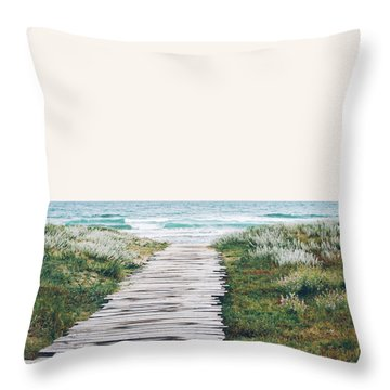The Ocean Is Calling And I Must Go  Throw Pillow by Uma Gokhale