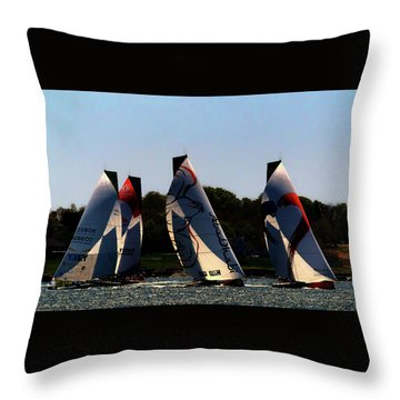 The Ocean Race Throw Pillow