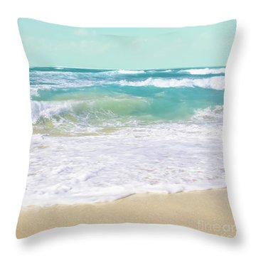 Throw Pillow featuring the photograph The Ocean by Sharon Mau
