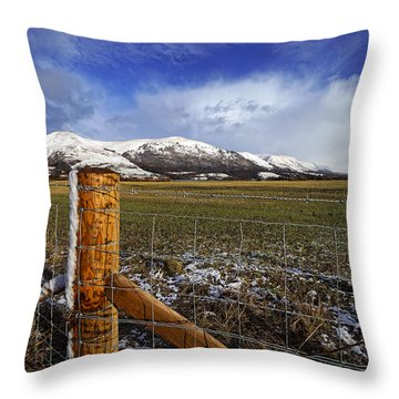 Throw Pillow featuring the photograph The Ochils In Winter by Jeremy Lavender Photography