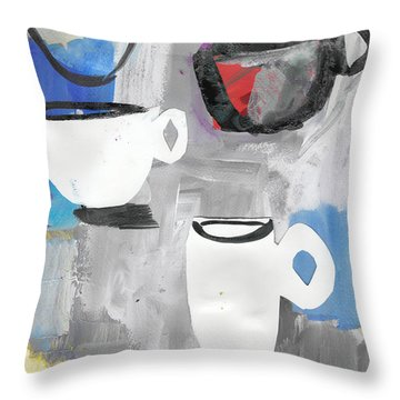 The Odd Coffee Cup Throw Pillow