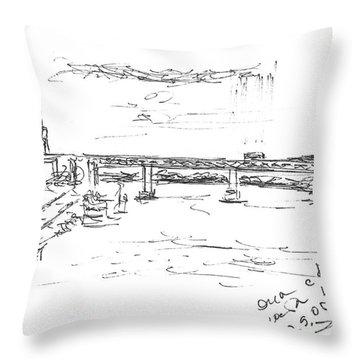 The Oka. View From The Kanavinsky Bridge. 29 April, 2016 Throw Pillow