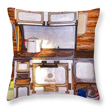 The Ol' Kitchen Range Throw Pillow