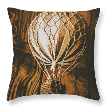 The Old Airship Throw Pillow