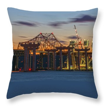 The Old And The New Throw Pillow by Angelo Marcialis