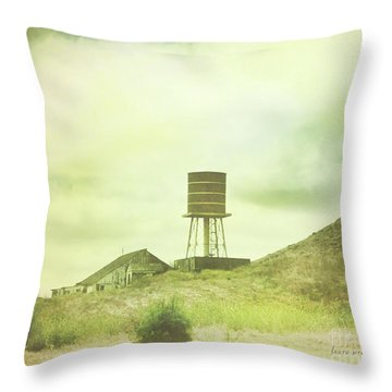 The Old Barn And Water Tower In Vintage Style San Luis Obispo California Throw Pillow