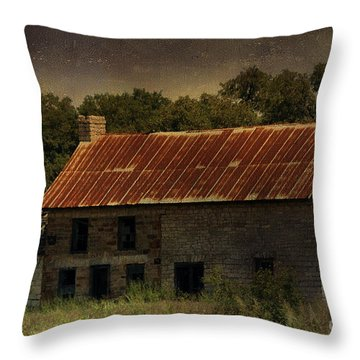 The Old Barn Throw Pillow by Jill Smith