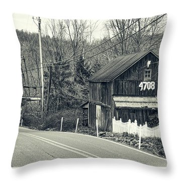 Throw Pillow featuring the photograph The Old Barn by Mark Dodd