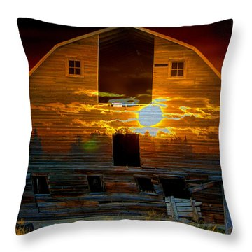 The Old Barn Throw Pillow by Stuart Turnbull