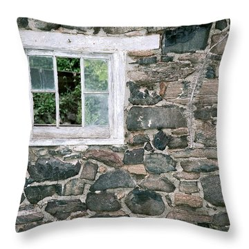 The Old Barn Window Throw Pillow