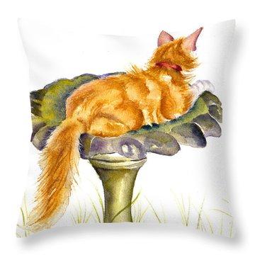 The Old Birdbath Throw Pillow