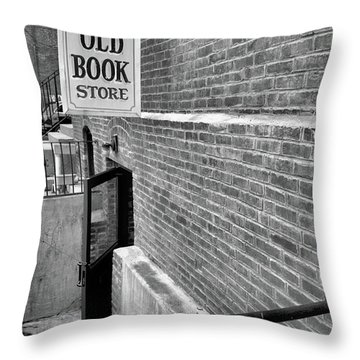 Throw Pillow featuring the photograph The Old Book Store by Karol Livote