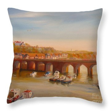 The Old Bridge - Folkestone Harbour Throw Pillow