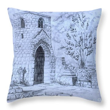 The Old Chantry Throw Pillow