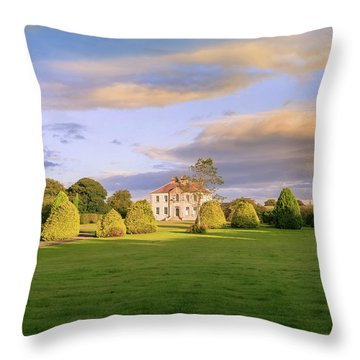 Throw Pillow featuring the photograph The Old Country House by Roy McPeak