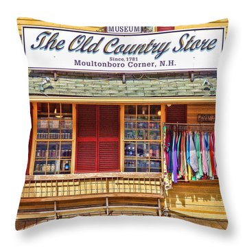 The Old Country Store, Moultonborough Throw Pillow