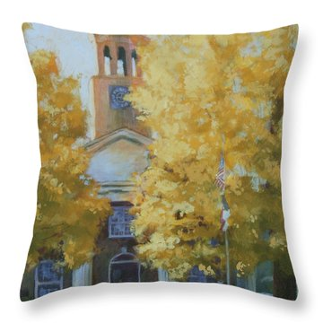 The Old Courthouse, 9am Throw Pillow by Carol Strickland
