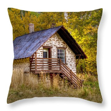 The Old Creamery Throw Pillow
