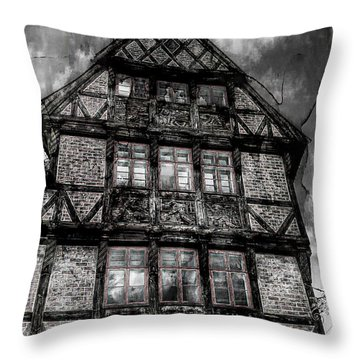 The Old Danish Buiding Throw Pillow