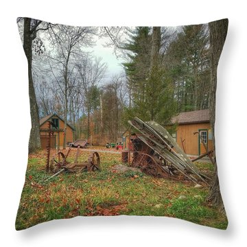 The Old Field Tools Throw Pillow