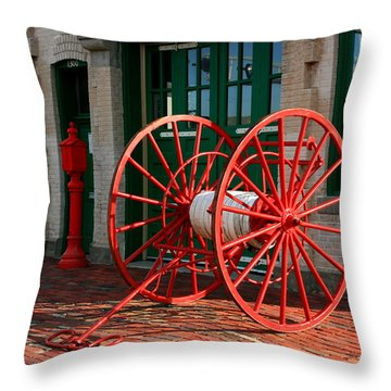 The Old Fire House Throw Pillow by David Dunham