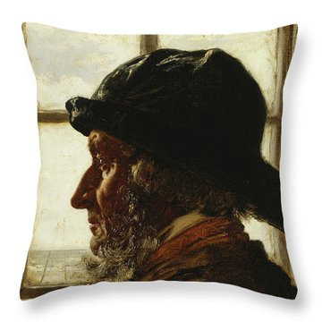 The Old Fisherman, 1873  Throw Pillow