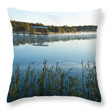 Throw Pillow featuring the photograph The Old Fishing Pier by Tamyra Ayles