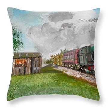 The Old Forsaken Shack Throw Pillow by Carole Robins