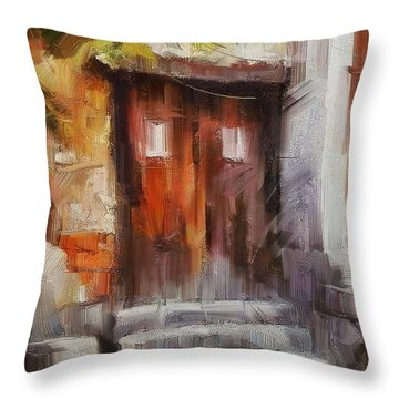 The Old Gate II Throw Pillow