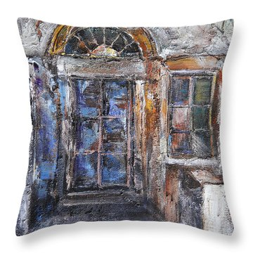 The Old Gate Throw Pillow