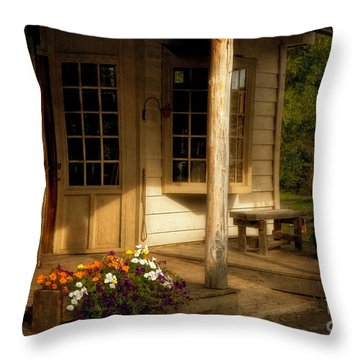 The Old General Store Throw Pillow by Lois Bryan