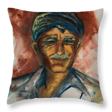 The Old Greek Man Throw Pillow