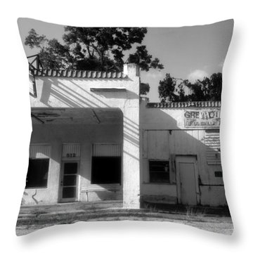 The Old Greyhound Station Throw Pillow by David Lee Thompson