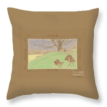 The Old Gully Tree Throw Pillow