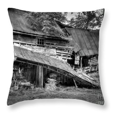 Throw Pillow featuring the photograph The Old Homestead by Douglas Stucky