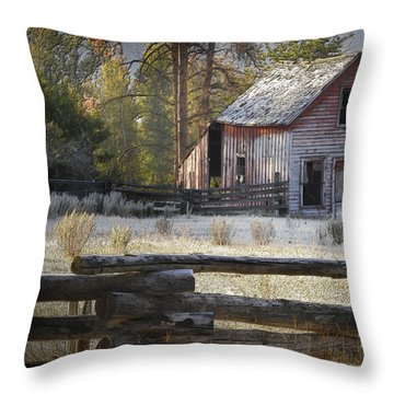 The Old Homestead Near Merritt Throw Pillow