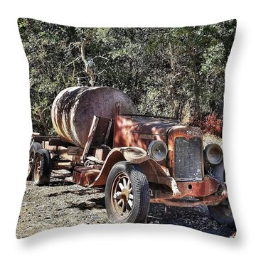 The Old Jalopy In Wine Country, California  Throw Pillow
