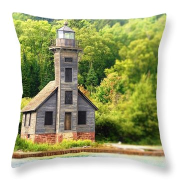 The Old Light Throw Pillow