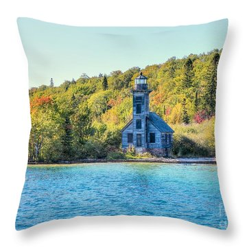 The Old Light House Throw Pillow