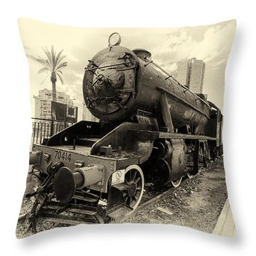 The Old Locomotive Throw Pillow
