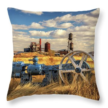 The Old Lumber Mill Throw Pillow