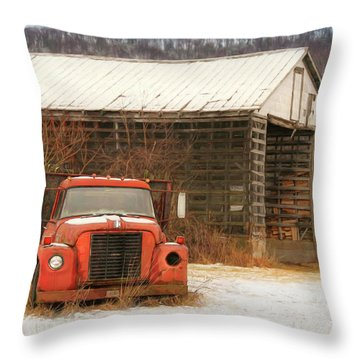 Throw Pillow featuring the photograph The Old Lumber Truck by Lori Deiter