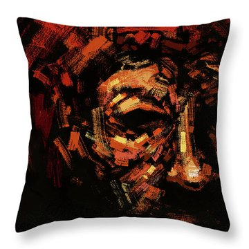 The Old Man In Red Throw Pillow
