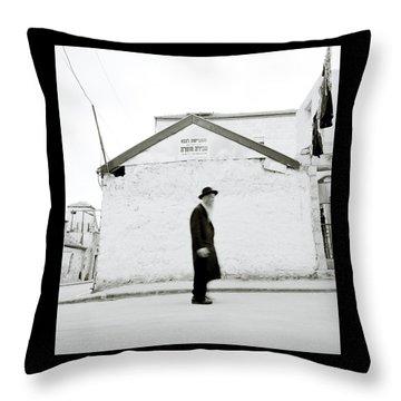 The Old Man Of Mea Shearim Throw Pillow by Shaun Higson