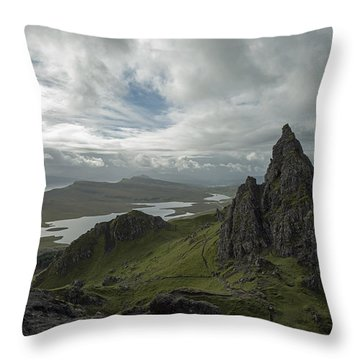 The Old Man Of Storr Throw Pillow by Dubi Roman